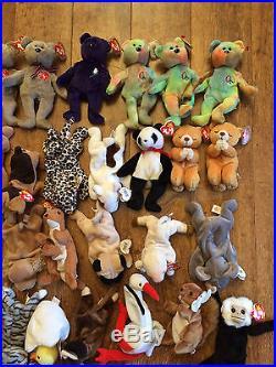 Collectors Lot 43 Rare Retired Beanie Babies w Errors Peace Princess Halo Hope
