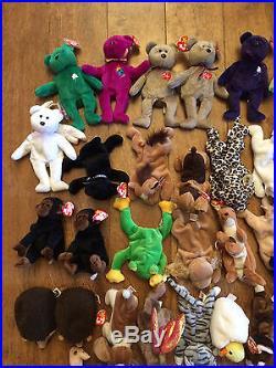 657fec01ebe Collectors Lot 43 Rare Retired Beanie Babies w Errors Peace Princess Halo  Hope