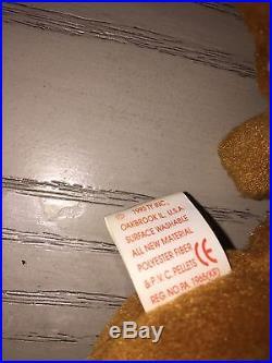 Cubbie beanie baby 1993 Rare errors deformitirs date format. Original