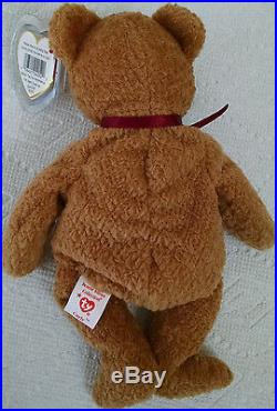 Curly Bear, Ty Beanie Baby Rare With Errors Mint Condition