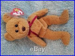 Curly The Bear TY original beanie baby RETIRED With Rare Errors 1993/1996