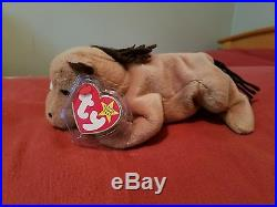 Derby the Horse' Ty Beanie Baby Retired 1995 NEW Rare with Errors, Mint