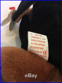 5ea7b97b861 Doby The Doberman Pinscher Dog Ty Beanie Baby Style 4110. Rare