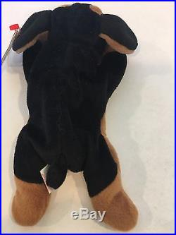 Doby The Doberman Pinscher Dog Ty Beanie Baby Style 4110. Rare, New and MWMT