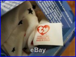 ERRORS McDonalds Ty Beanie Babies Int'l Bears Maple, Glory, Erin, Britannia RARE