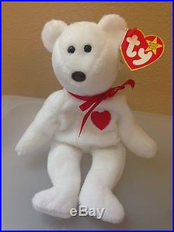 569a2c761a2 ERRORS RARE VALENTINO Ty Beanie Baby   Babies PVC 1993 Misspelled No Stamp