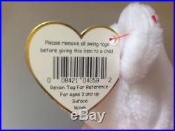 ERRORS RARE VALENTINO Ty Beanie Baby / Babies PVC 1993 Misspelled No Stamp
