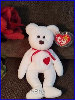 EXTREMELY Rare Vintage Valentino Ty Beanie Baby NWT Mispelled Tag and PVC