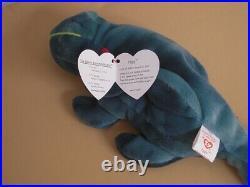 EXTREMLY EXTREMLY Rare TY Beanie Baby Iggy Iguana Spikes 1997