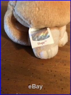 Error Hope 1998 Ty Beanie Baby Extremely Rare Original