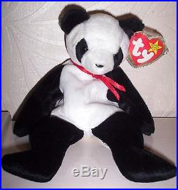 Excellent Condition Original Ty Beanie Baby Fortune The Panda Rare With Errors