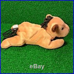 Extraordinary 1995 Ty Beanie Baby Derby Horse Rare PVC NO STAR &'SUFRACE' Error