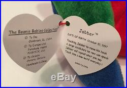 Extremely Rare Jabber Beanie Babies with Errors Stamp