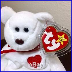 11b420917ce Extremely Rare MWMT 1993 TY Valentino Beanie Baby with Swing Tag Errors PVC