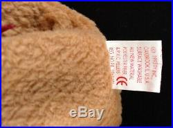 Extremely Rare Ty Beanie Baby Curly BEAR Swing Tag Ink Printing Error