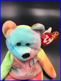 b712e7d39fa Extremely rare Ty Beanie Babies Peace Bear with all errors Mistakes ...