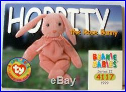 Extremely rare ty beanie baby (2) hoppity with errors oneno star on tush tag