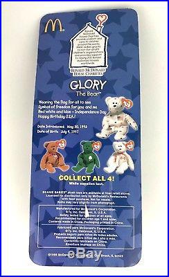 Glory The Bear 1997 McDonald's Ty Beanie Baby With Rare Errors 1993 OakBrook
