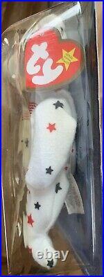 Glory The Bear-1999 McDonalds Ty Beanie Baby with rare errors 1993, OakBrook