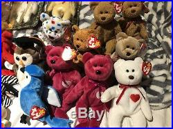 Huge Lot Of Rare Beanie Babies with errors