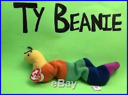 Inch (1995)Ty BeanieWorm/PVC. Authentic/Rare/Retired