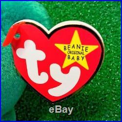 MWMT 1997 Retired Erin The Bear Original TY Beanie Baby Rare Gosport Swing Tag