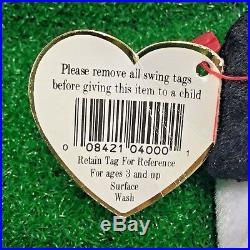 MWNMT Ty Beanie Baby Spot The Dog Rare 1993 Original 9 PVC Plush Free Shipping