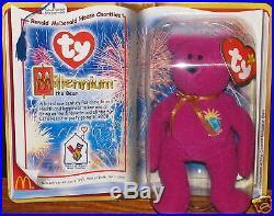 McDonalds Millennium Ty Legends Beanie Babies 2000 w PEANUT rare LOT 11