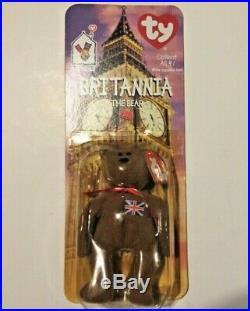Mcdonalds TY Beanie Baby Britannia The Bear RARE WITH ERRORS UNCIRCULATED MINT