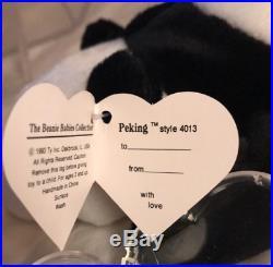 Mega Rare 2nd Gen Peking Beanie Baby Authenticated Mwmt Mq Pristine