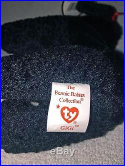 Mint RARE Ty GiGi Poodle Beanie Baby Date & Tag Errors Retired 307