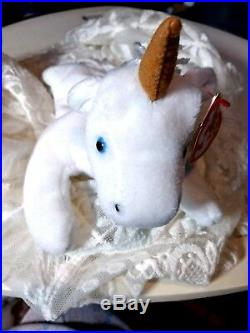Mystic The Unicorn Ty Beanie Baby-museum Quality-with 9 Errors-extremely Rare