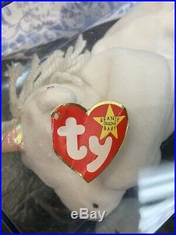 Mystic the Unicorn Ty Beanie Baby Rare and Retired Certified with Errors
