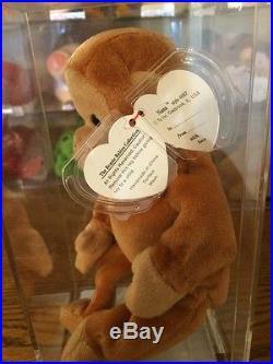 NANA (No Bongo Sticker) Ty Beanie Baby Authenticated MWMT MQ German Tags RARE