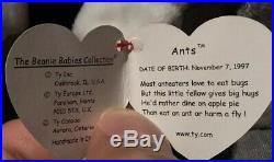 NEW Beanie Babies Ants ERRORS 1997 1998 RARE ORIGINAL OWNER Baby Bear Anteater