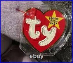 NEW Beanie Babies Floppity 1996 ERRORS Rare Baby Ty ORIGINAL OWNER Retired Bear