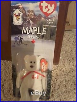 New TY Maple the Bear Beanie Baby, error 1993 Rare from McDonald's