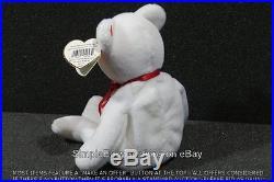 Original Authentic Ty Valentino White Bear 1994 1993 Beanie Baby Rare Errors Pvc