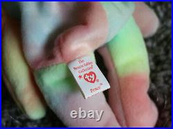 Original 1996 Ty Beanie Baby Peace the Bear RARE and RETIRED with TAG ERRORS
