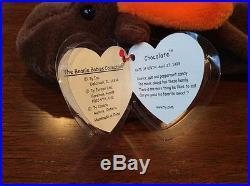 Original Chocolate the Moose Ty Beanie Baby 1993 Rare withP. E. Pellets