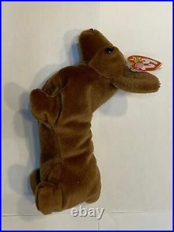 Original Ty Beanie Baby WEENIE the WEENER DOG RARE WITH TAG ERRORS