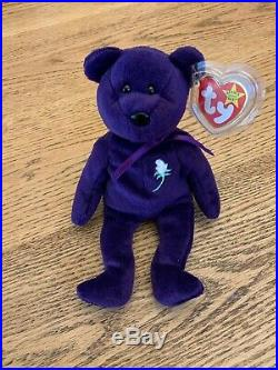 Original VERY RARE Ty Beanie Baby Princess Diana GHOST Bear (Indonesia)