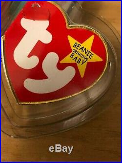 PEACE Beanie Baby SEVERAL MISPRINTS! ULTRA RARE ONE-OF-KIND JAZZ-N-SPACE