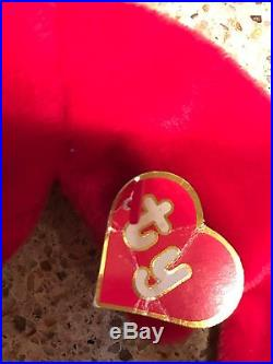 PUNCHERS BEANIE BABIES 1st Gen Hang Tag 1st Gen Tush Tag Ultra Rare Creased Tag