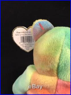 Peace (1996) Ty BeanieBaby Bear. PVC. Authentic/Rare/Retired