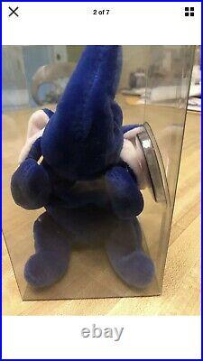 Peanut Ty Royal Blue Beanie Baby Mint Rare
