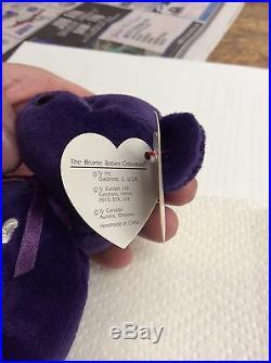 Princes Diana 1997 Beanie Baby Plush NM. MT. Condition #403 VERY RARE