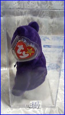 Princess Diana TY Beanie Rare Tiny Version No space, Dk Green Stem PVC