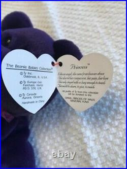 Princess Diana Ty Beanie Baby 1997 Mint Condition New Rare Retired Errors