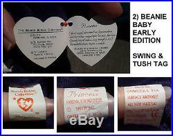 Princess Diana Ty Beanie Baby x 2 inc. 1st Edition & Beanie Buddy SUPER RARE